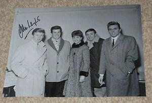 JOHN LEYTON -  SINGER - 10x8 PHOTO  SIGNED.  with Billy Fury & The Mudlarks (9)