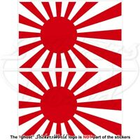 JAPAN Japanese Rising Sun Flag 100mm Stickers Decals x2