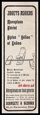 PUBLICITE  JOUET ANCIEN  AERIENS MONOPLANS BLERIOT OLD TOY  AD  1909