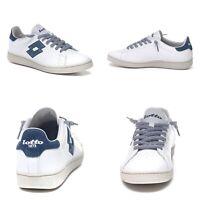 Sneakers scarpe uomo LOTTO LEGGENDA Autograph SnowWhite/DarkDenim P/E19List.120€