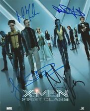 X-Men: First Class Multi Signed 10x8 Photo AFTAL *SIGNED BY 6*