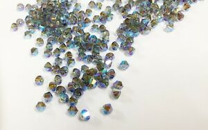 Swarovski® Crystal - 4mm AB 2X Colors - Bicone Beads - 36 PC. PK