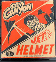Rare Vintage 1959 Ideal Toys Steve Canyon Jet Helmet With Original Box