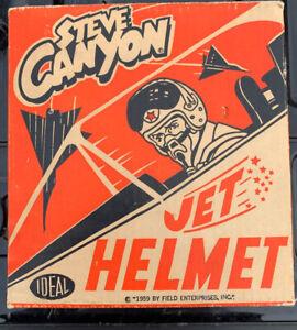 Rare Vintage 1959 Ideal Toys Steve Canyon Jet Helmet With Original Box