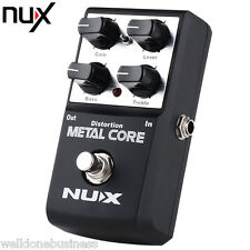 NUX Metal Core Distortion Guitar Effect Pedal True Bypass Design 2 Band EQ Tone