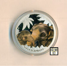 2014 Tuvalu Mother's Love - Asian Elephant 1/2oz.Proof 50ct Fine Silver Coin