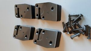 1984-87 JAGUAR XJ6 OEM  FRONT AND RIGHT DOOR LATCHS ( 4 ) WITH MOUNTING BOLTS