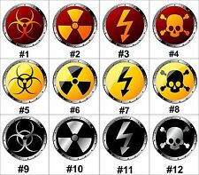 """Choose Design 8"""" Circle Biohazard, Shock, Nuclear and Poison Aluminum Metal Sign"""