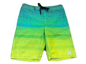 Hurley Board Shorts Multicolored Kids Swimming Trunks Boys Youth Size 14/27 NWT