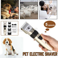 Dog Shave Clipper Hair Low Noise Cordless Electric Cat Grooming Trimming Kit