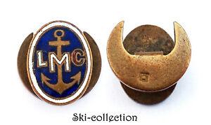Insigne boutonnière LMC, Ligue Maritime et Coloniale. Email. France. Vers 1930