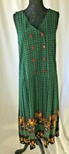 Vintage Carole Little Womens Size 8 Dress  Double Breasted Chicken Print Pleated
