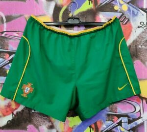 Portugal National Footbal Team Soccer Training Shorts Vintage Nike Mens size XL