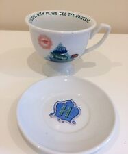 HENDRICK'S GIN CUP & SAUCER COLLECTABLE  NEW CONDITION CUCUMBER PATTERN