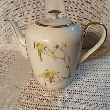 Heinrich H&C Bavaria Germany Autumn Pattern Teapot with Lid 1940s
