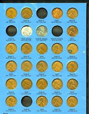 UNITED STATES LOT OF 60 LINCOLN CENTS  IN ALBUM  YOU DO THE GRADING
