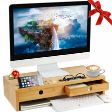 Bakaji Stand Supporto Monitor Laptop Notebook in in Bambù - Marrone