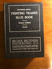 1939 Printing Trades Blue Book