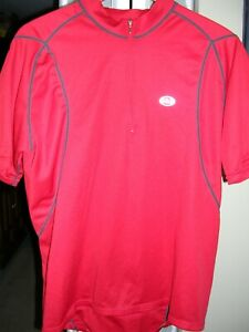 LOUIS GARNEAU MEN'S CYCLING JERSEY XL RED GOOD USED CONDITION