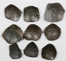 New listing Lot of (9) 1204-1261Ad Byzantine Latin Rulers Trachy Ae Coins - Nine Coins Total