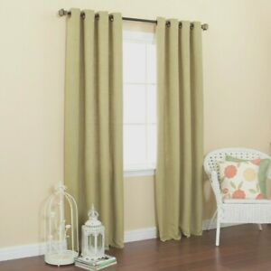 100% Cotton Ring  top Canvas Light Sage Green Curtains