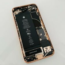 APPLE iPHONE 8 GOLD REAR CHASSIS HOUSING WITH GENUINE PARTS + BATTERY - CRACKED
