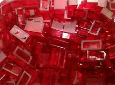 *NEW* Lego Red 1x2 Stud Clear Trans Window Bricks Blocks Walls - 10 pieces