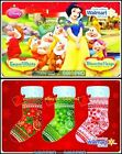 2x WALMART DISNEY SNOW WHITE PRINCESS GNOMES STOCKINGS COLLECTIBLE GIFT CARD LOT For Sale