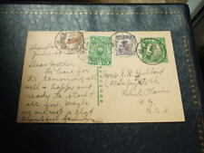 China Pre Paid 2.5c Postcard Shanghai-USA + 3 Stamps New Life & Junk 1936