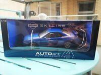 Autoart 1:18 Nissan Skyline R34 GT-R 1999 Blue  Diecast 77301 - RARE