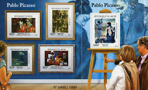 Niger 2015 MNH Pablo Picasso 4v M/S + 1v S/S Art Paintings Stamps