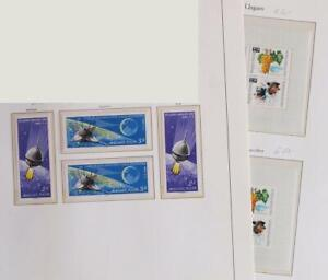 HUNGARY 1966 SPACE, Cpl XF Perf+ImPerf MNH** Sheets+Sets, Luna Moon Landing