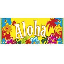 ALOHA BANNER 220 x 74 cm Beachparty Hawaii PARTY Strandparty Deko #2505
