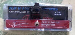 Fisherman Eyewear Flip N Focus Magnifier +1.50