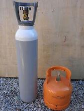 Bombola Ossigeno da 5  litri e bombola propano 1 kg  saldatura cannello