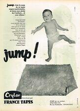 G- Publicité Advertising 1961 France Tapis ...bébé