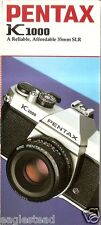 Camera Brochure - Pentax - K1000  (CB92)