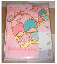 Genuine Sanrio KIKI & LALA Letter Writing Paper Set-kawaii Pen Pals décoratif