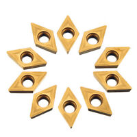 Drillpro 10pcs DCMT070204 Carbide Inserts DCMT0702 Carbide Cutter For Turning