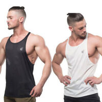 Men Asian Size Bodybuilding Muscle Breathable Training Stringer Tank Top Vests