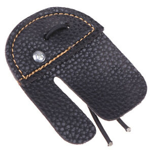 Leather Archery Finger Guard Protection Pad Glove Tab Bow Shooting Protect D H0