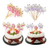 10x Crown Birthday Cake Toppers Cupcake Glittering Decor Wedding Birthday Party