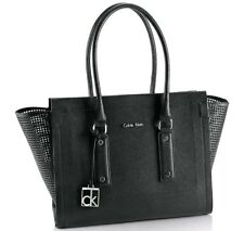 NWT Calvin Klein Womens Daron Metro large Tote Bag Handbag Black