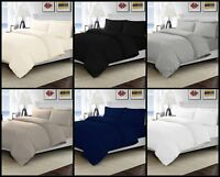 T300 Sateen High Quality Duvet Quilt Cover with Pillowcase Bedding Set All Sizes