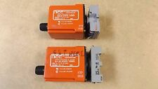 lot of 2 NCC Solid State Timer Relay Model T1K-2-461 .05-2 sec. range w/ Sockets