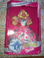 NEW Vintage Birthday Barbie Doll 1994 Mattel #12954 New In Box