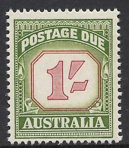 AUSTRALIA SCOTT J94 MNH FINE+ - 1958 1sh GREEN CARMINE POSTAGE DUE (A)   CAT $29