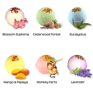 6 Customized Bath Bombs All Natural 5 oz each You Choose Scents Fast Shipping!