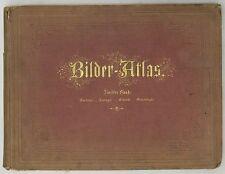 BILDER-ATLAS IKONOGRAPHISCHE-VOL. II ANATOMIE ZOOLOGIE BOTANIK MINERALOGIE -1875