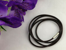 20 PCS 3mm Fashion Brown Leather Cord Necklaces 80cm #22845